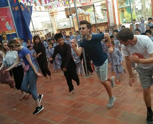 dancing with kids in vietnam