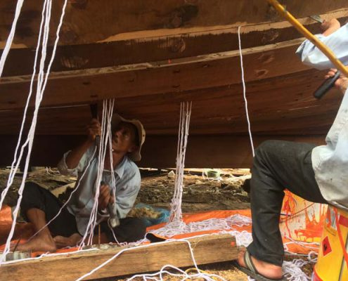 boat making in vietnam