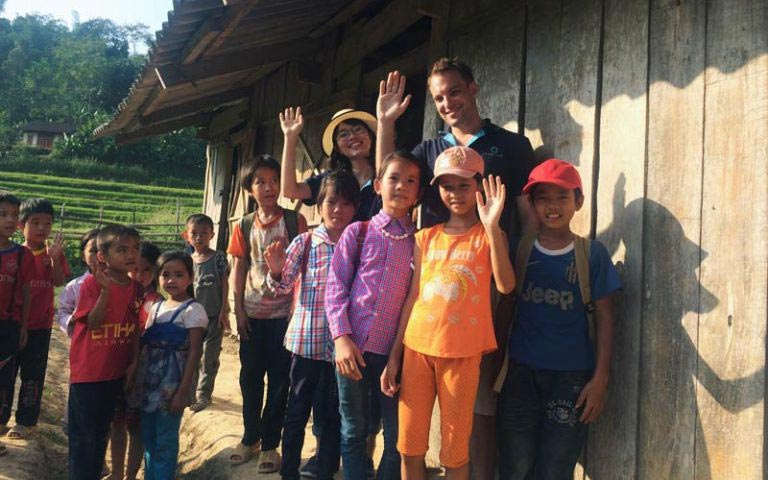 vietnamese students at a remote village school